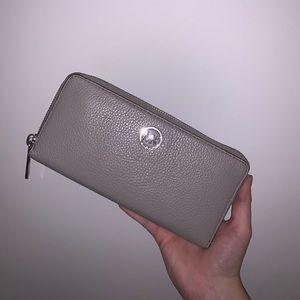Michael Kors Gray Zip Wallet
